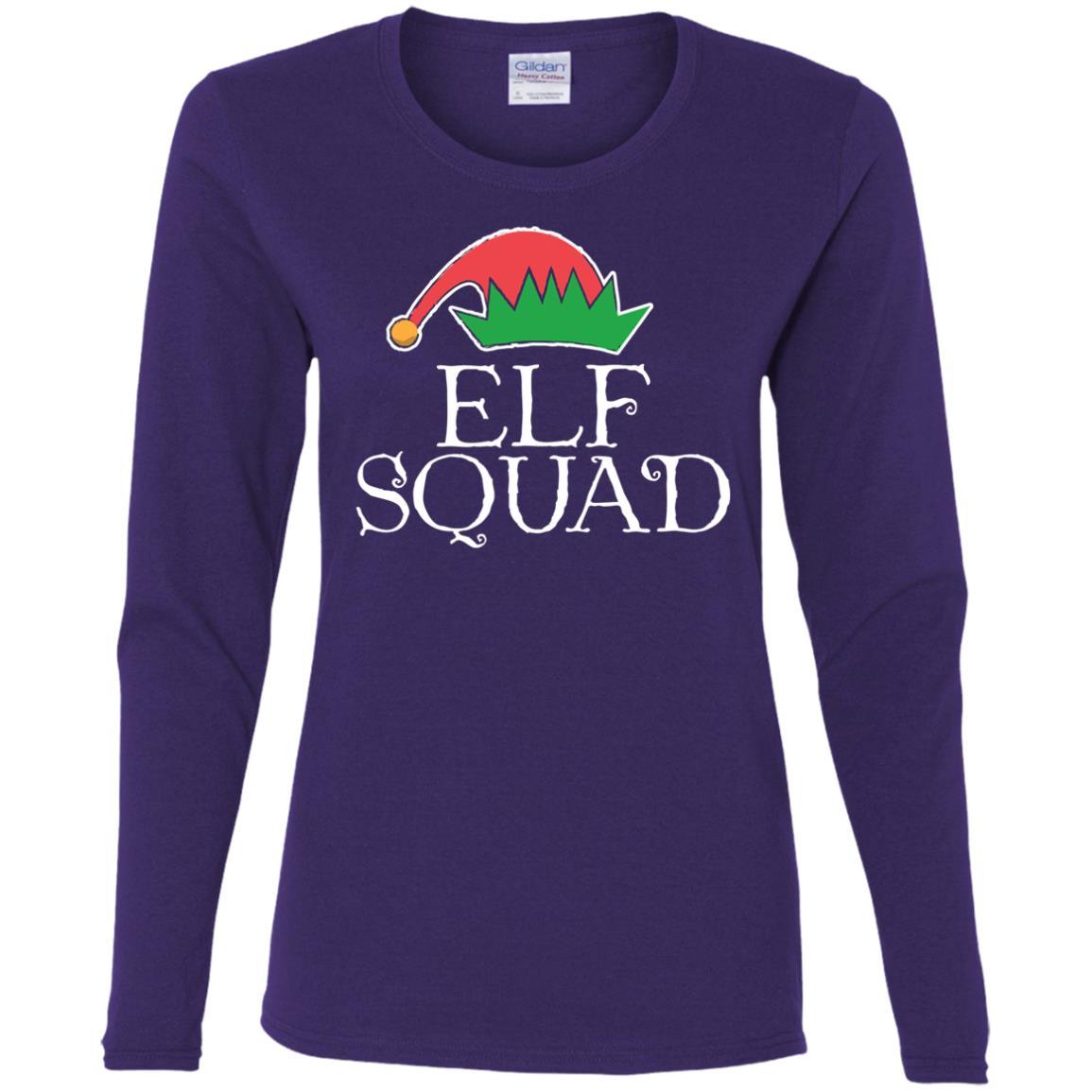 Christmas Elf Squad Women Long Sleeve T-Shirt