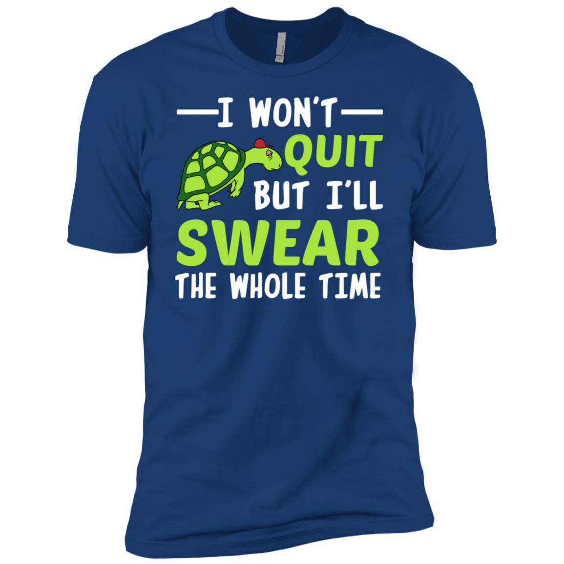 I Wont Quit But I Swear The Whole Time Funny Workout Running Men Short Sleeve T-Shirt