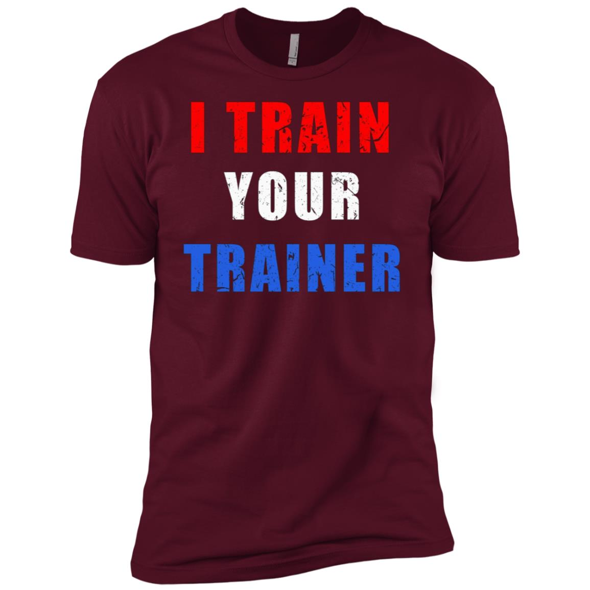 I Train Your Trainer Funny Gym Workout Tee Men Short Sleeve T-Shirt