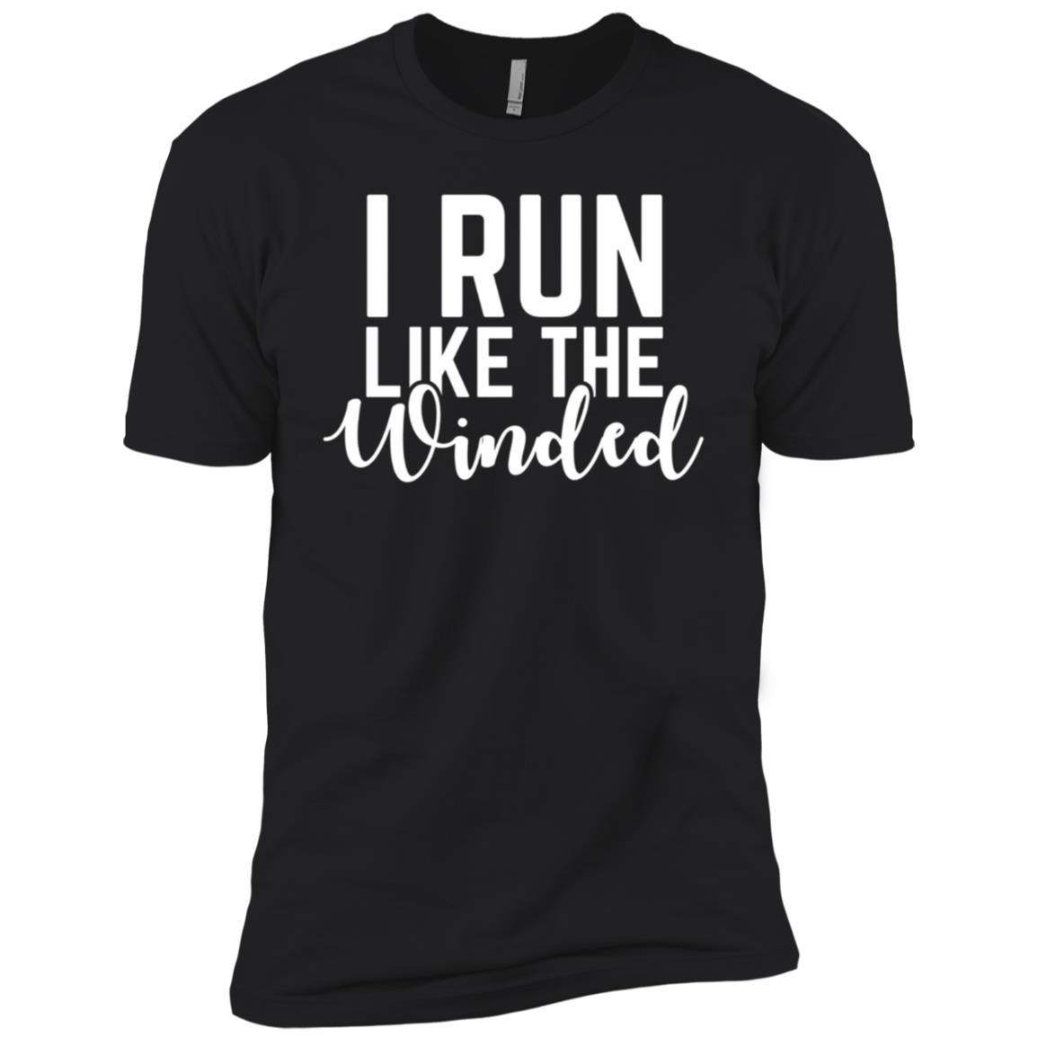 I Run Like The Winded Funny Running Men Short Sleeve T-Shirt