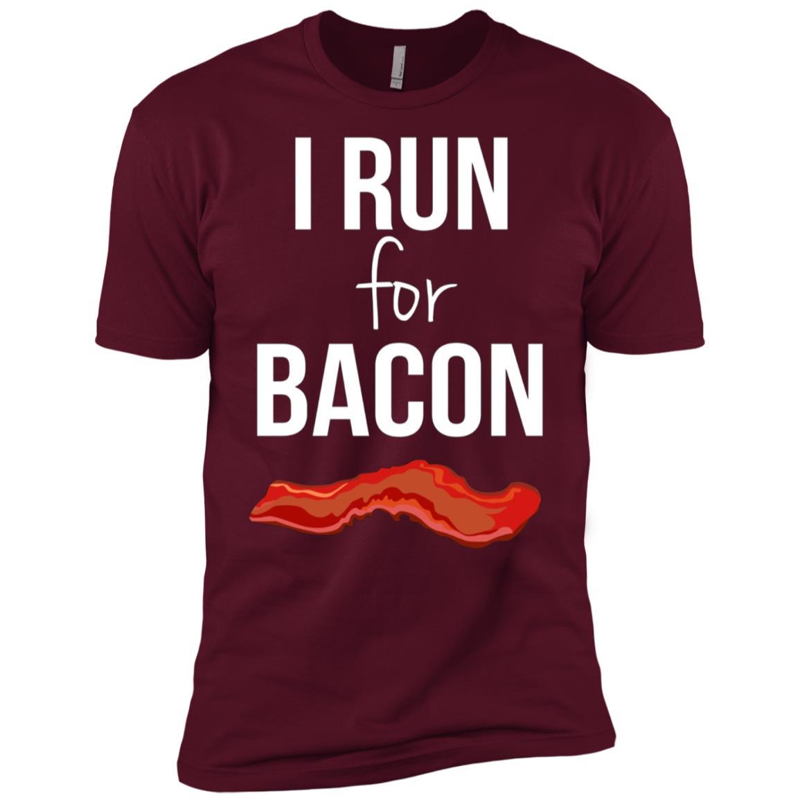 I Run for Bacon Funny Running Men Short Sleeve T-Shirt