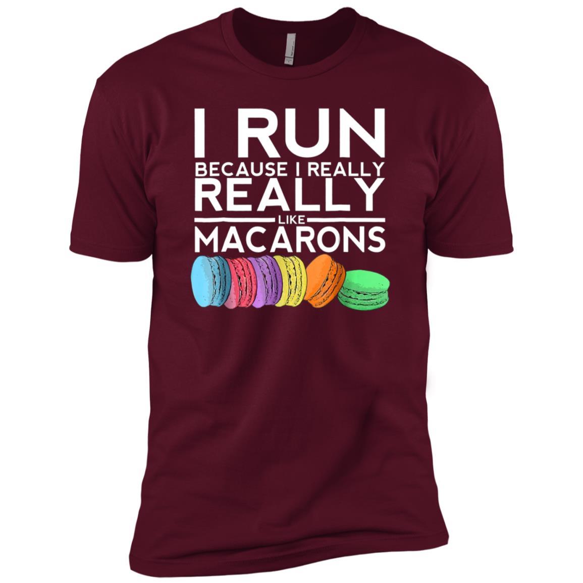 I Run Because I Really Like Macarons Men Short Sleeve T-Shirt