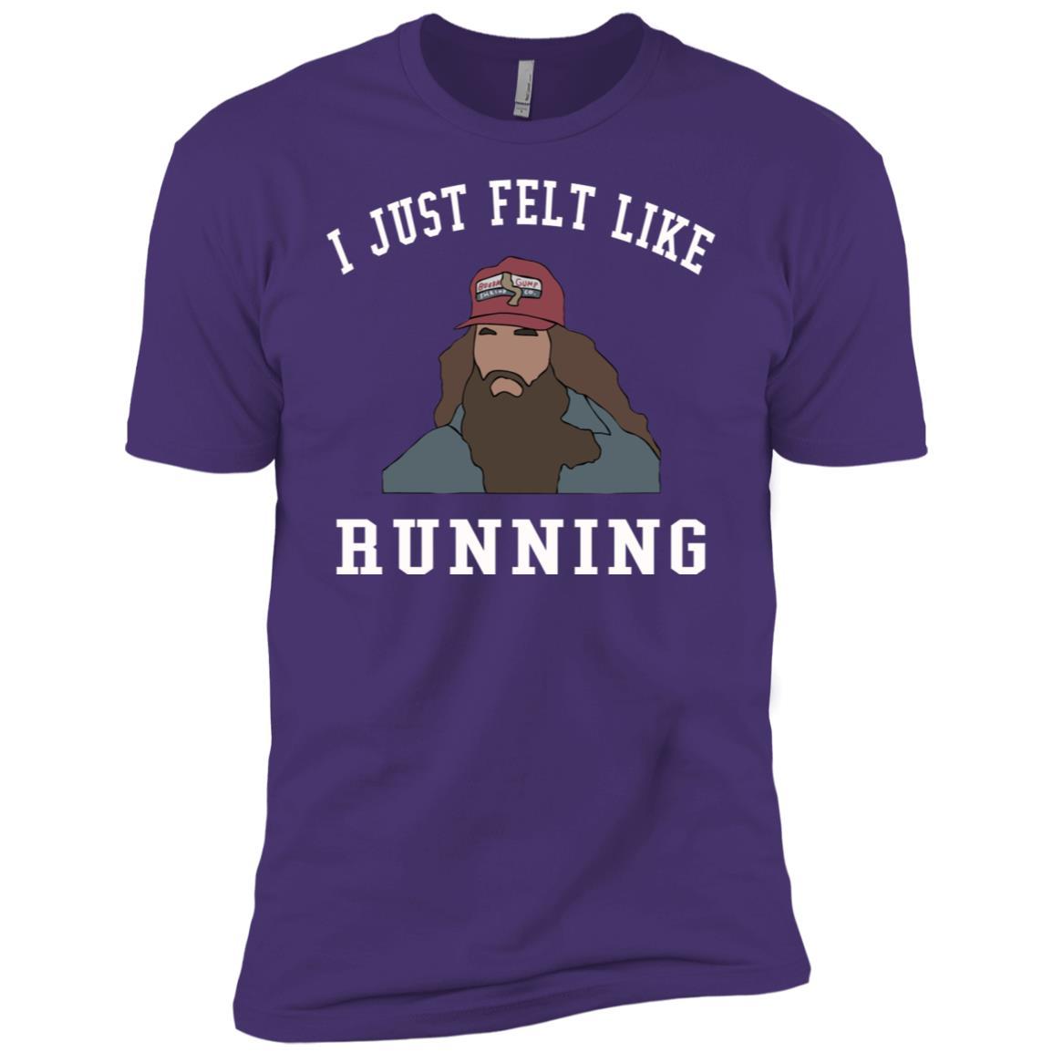 I just felt like running Men Short Sleeve T-Shirt