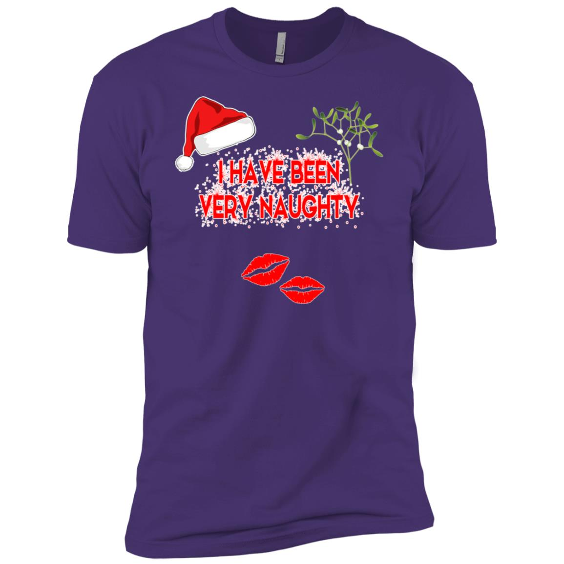 I Have Been Very Naughty fun joke Christmas Tee Men Short Sleeve T-Shirt