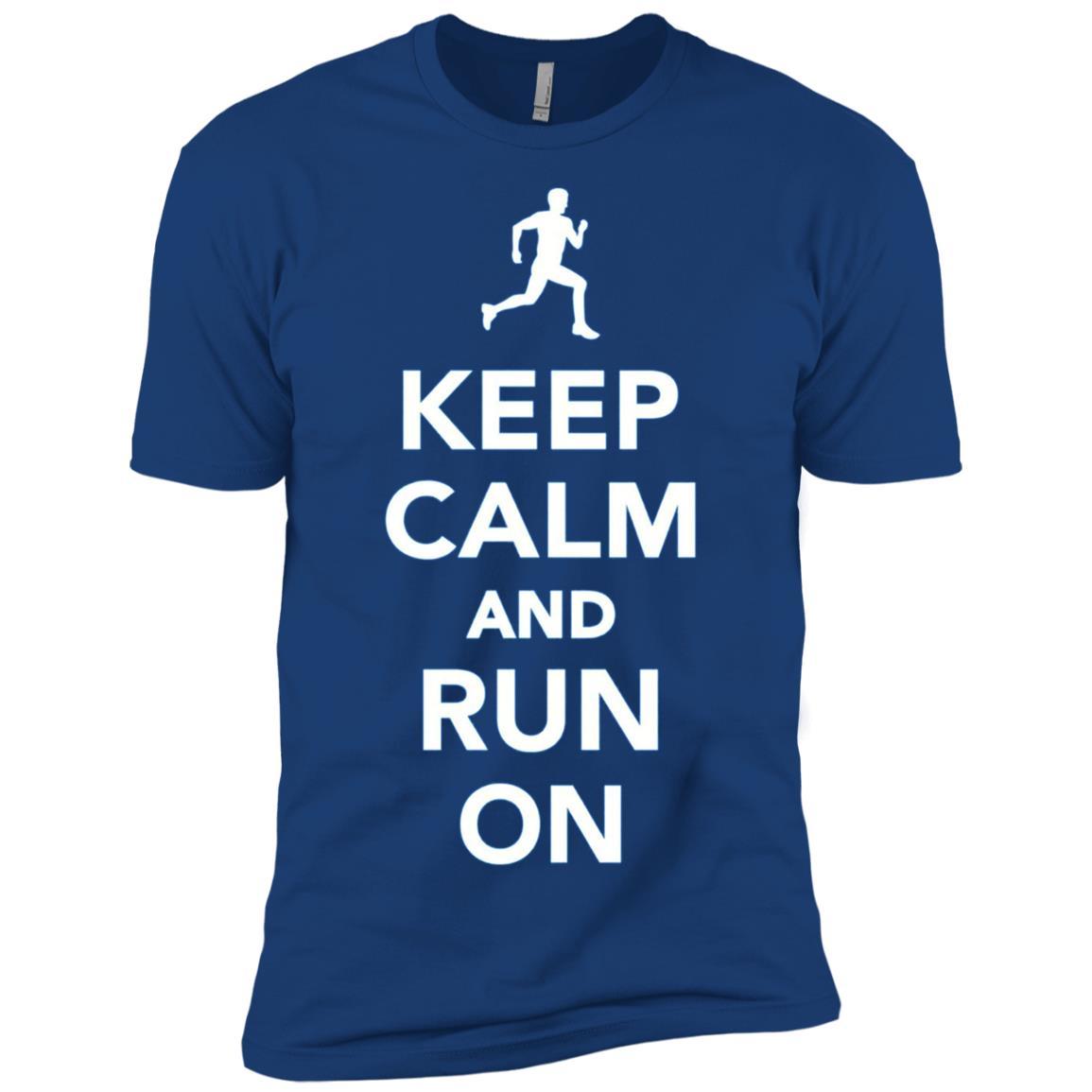 Keep calm and run on Men Short Sleeve T-Shirt