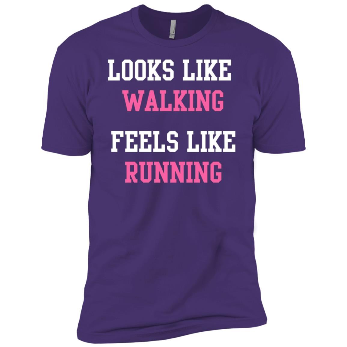 Looks like Walking Feels like Running Funny Exercise Men Short Sleeve T-Shirt