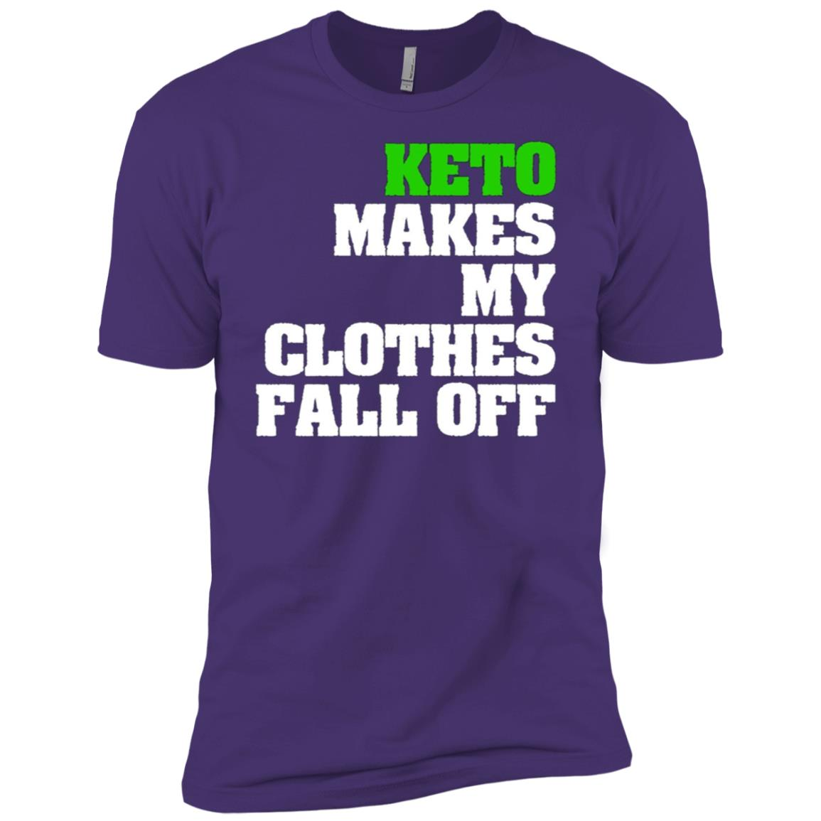 Keto Makes My Clothes Fall Off Funny Gym Men Short Sleeve T-Shirt