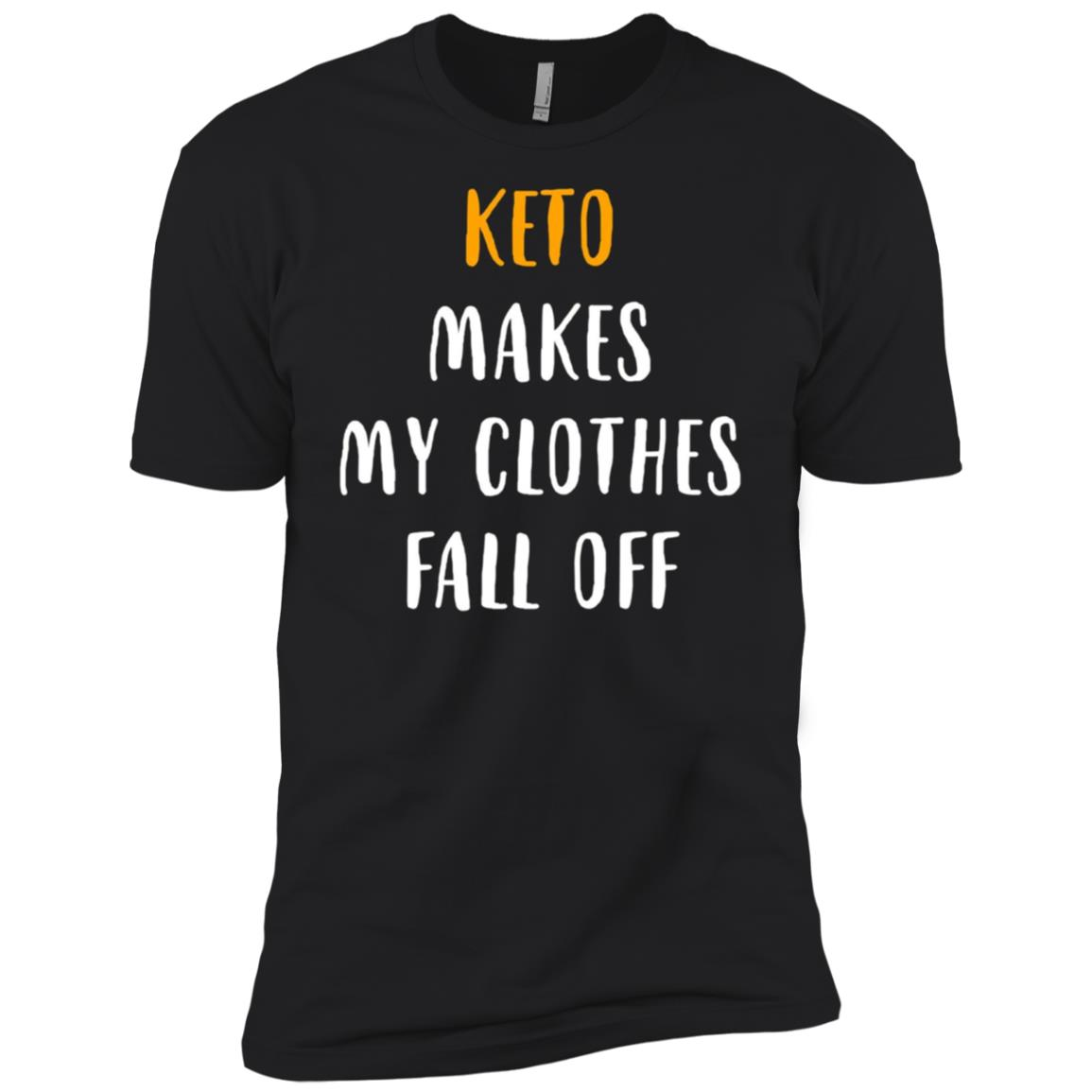 Keto Makes My Clothes Fall Off Funny Diet Workout Men Short Sleeve T-Shirt