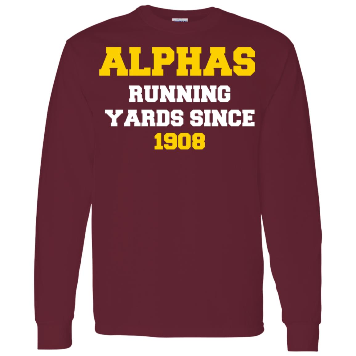A Fraternity Phi A Running Yards Since 1908 Men Long Sleeve T-Shirt