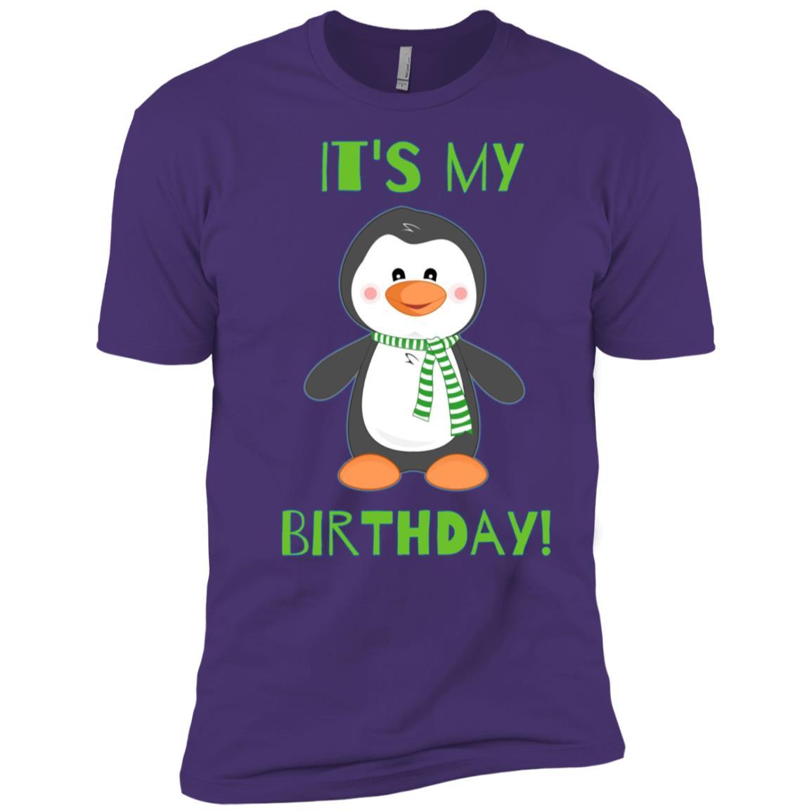 It's My Birthday Cute Penguin Bday Men Short Sleeve T-Shirt