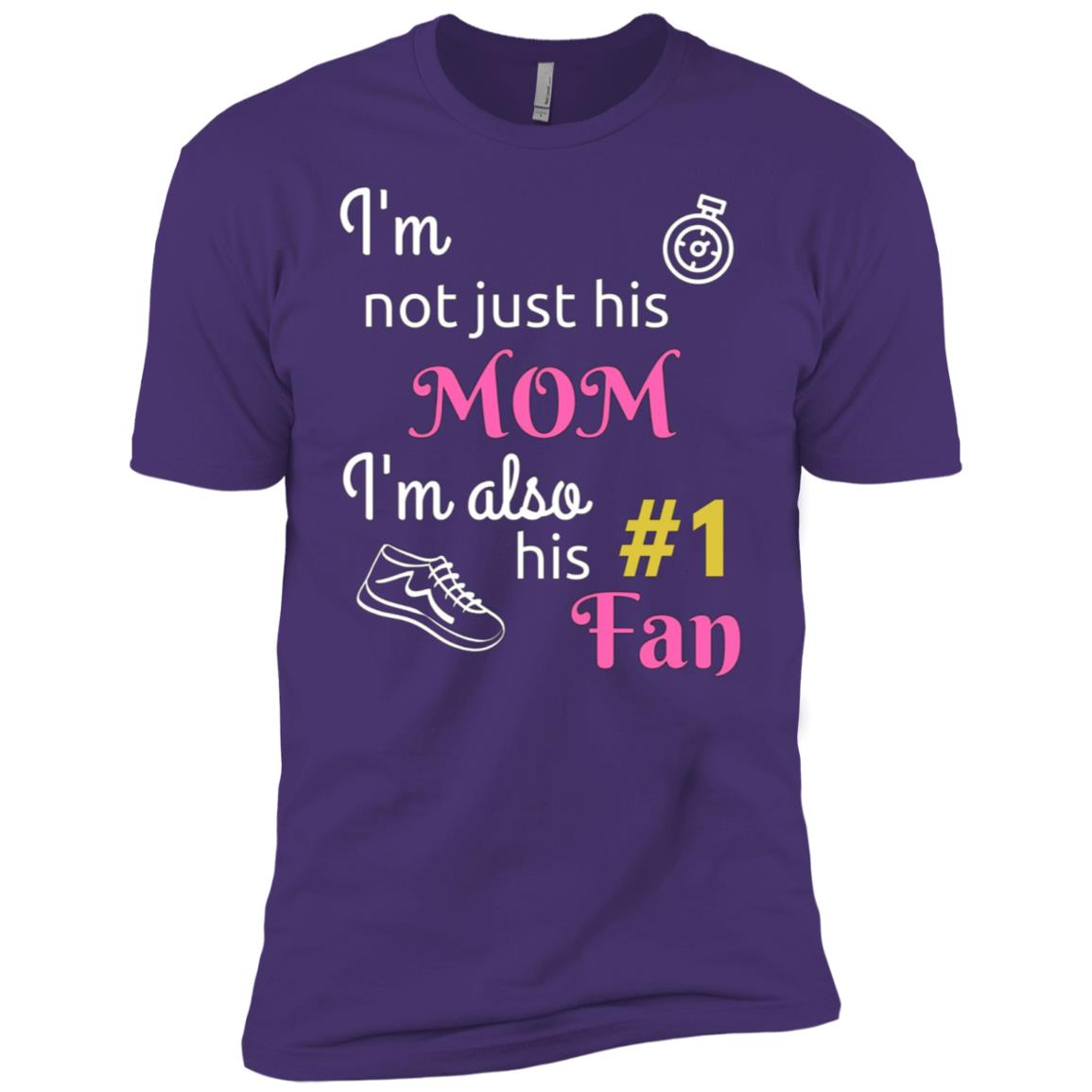 I'm not just his Mom but number 1 fan cross country Men Short Sleeve T-Shirt