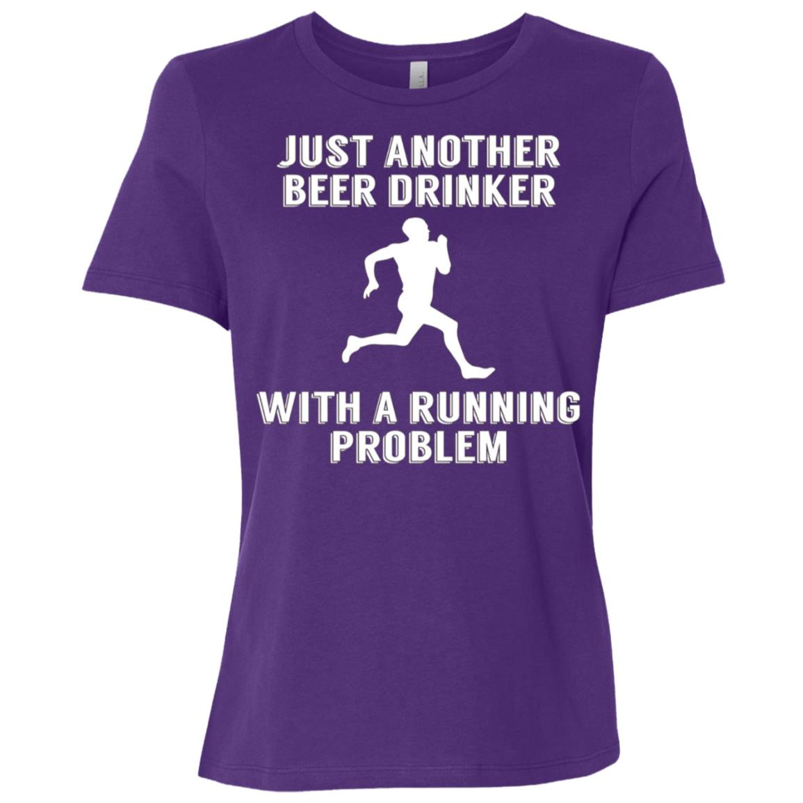 Just Another Beer Drinker With A Running Problem Women Short Sleeve T-Shirt