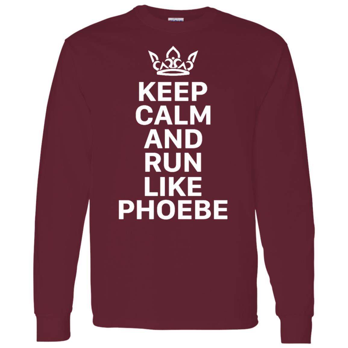 Keep Calm And Run Like Phoebe Men Long Sleeve T-Shirt