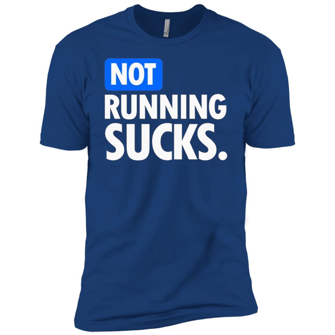 Not Running Sucks – Running Men Short Sleeve T-Shirt