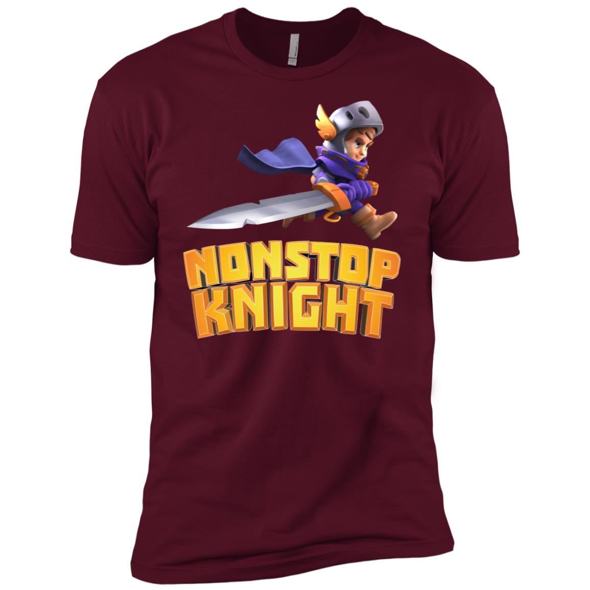 Nonstop Knight – Keep running – Men Short Sleeve T-Shirt