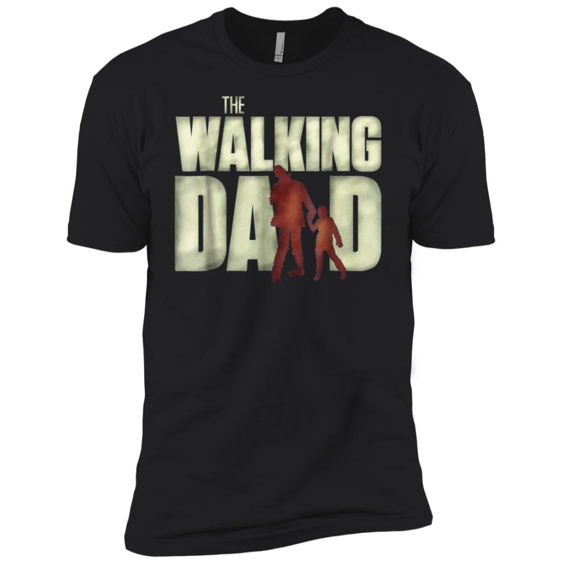 Mens The Walking Dad Funny Cool Father's Day Shower Gift Men Short Sleeve T-Shirt