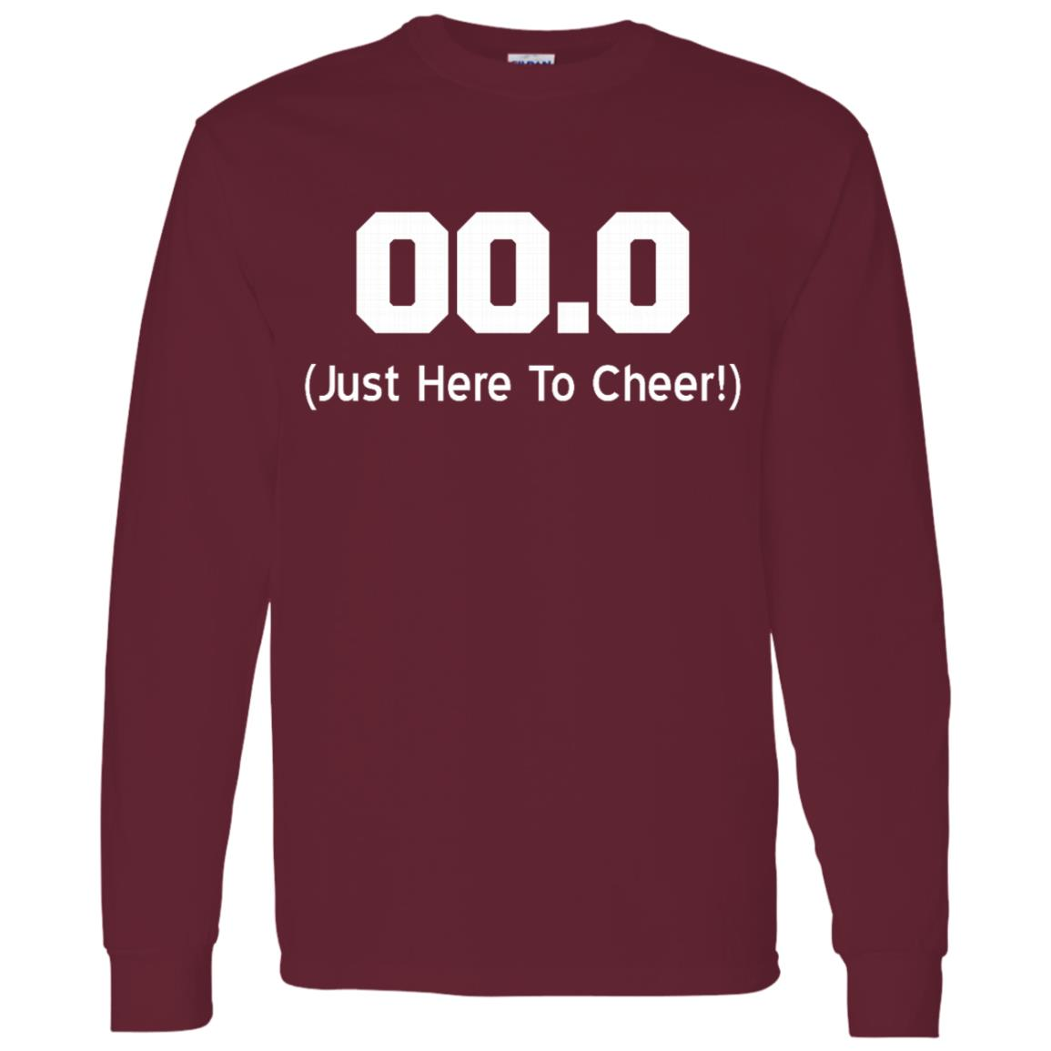 00.0 Just Here To Cheer Running Spectator Men Long Sleeve T-Shirt