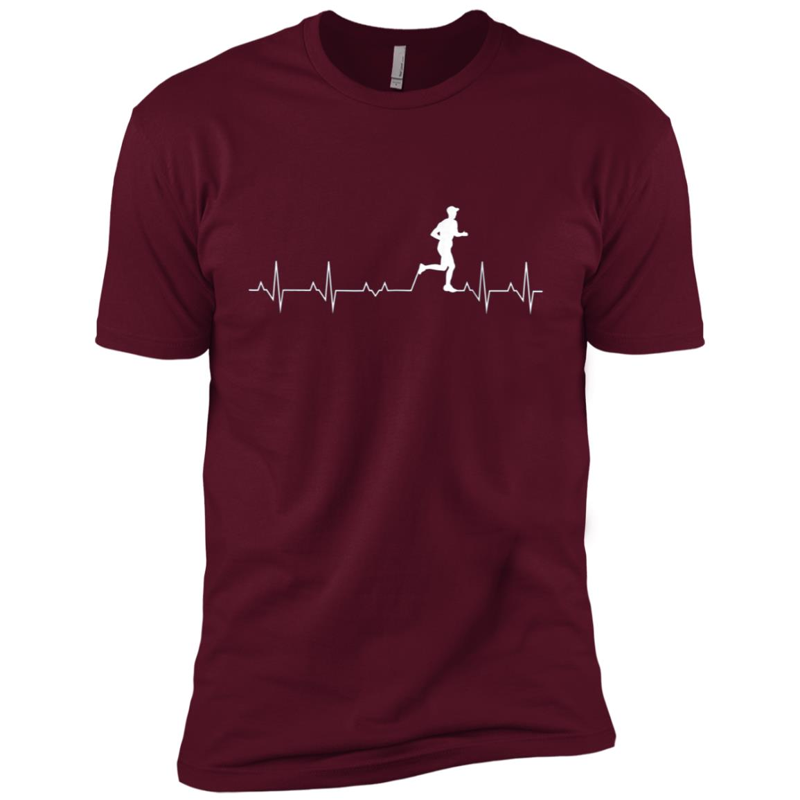 Mens Mens Running Heartbeat Funny Graphic For Runners Men Short Sleeve T-Shirt