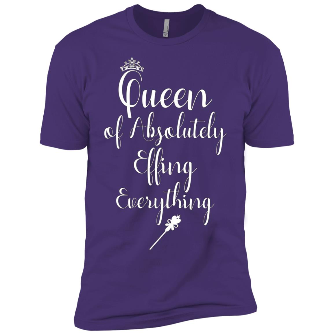 Queen of Absolutely Effing Everything Control Men Short Sleeve T-Shirt