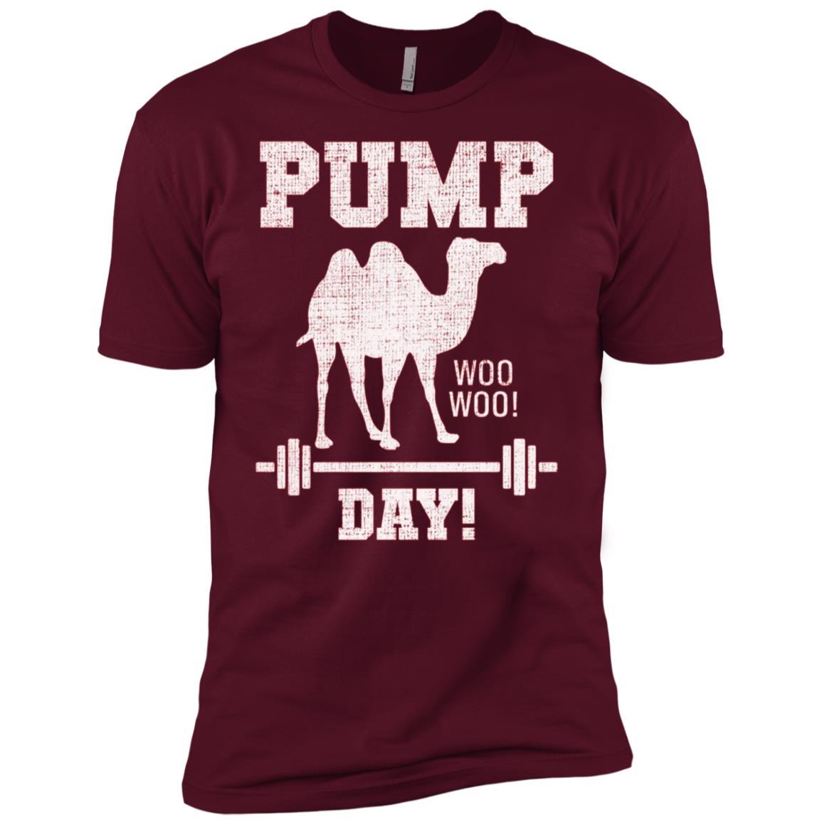 Pump Day Hump Day Camel Weight Lifting Training Gym Men Short Sleeve T-Shirt