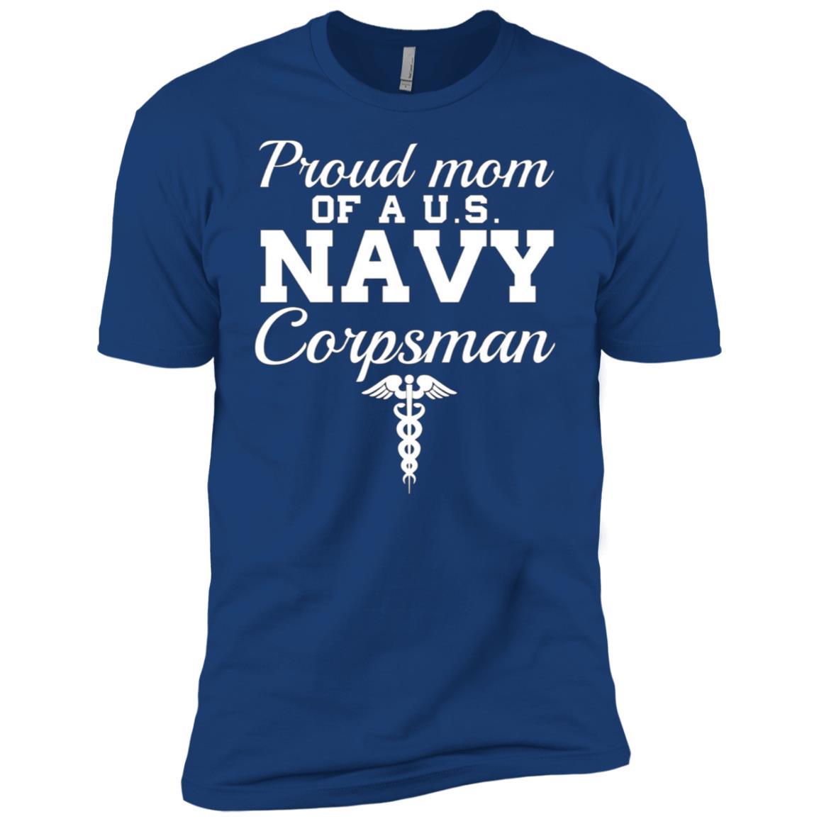 Proud Mom of a U.S. Navy Corpsman Men Short Sleeve T-Shirt
