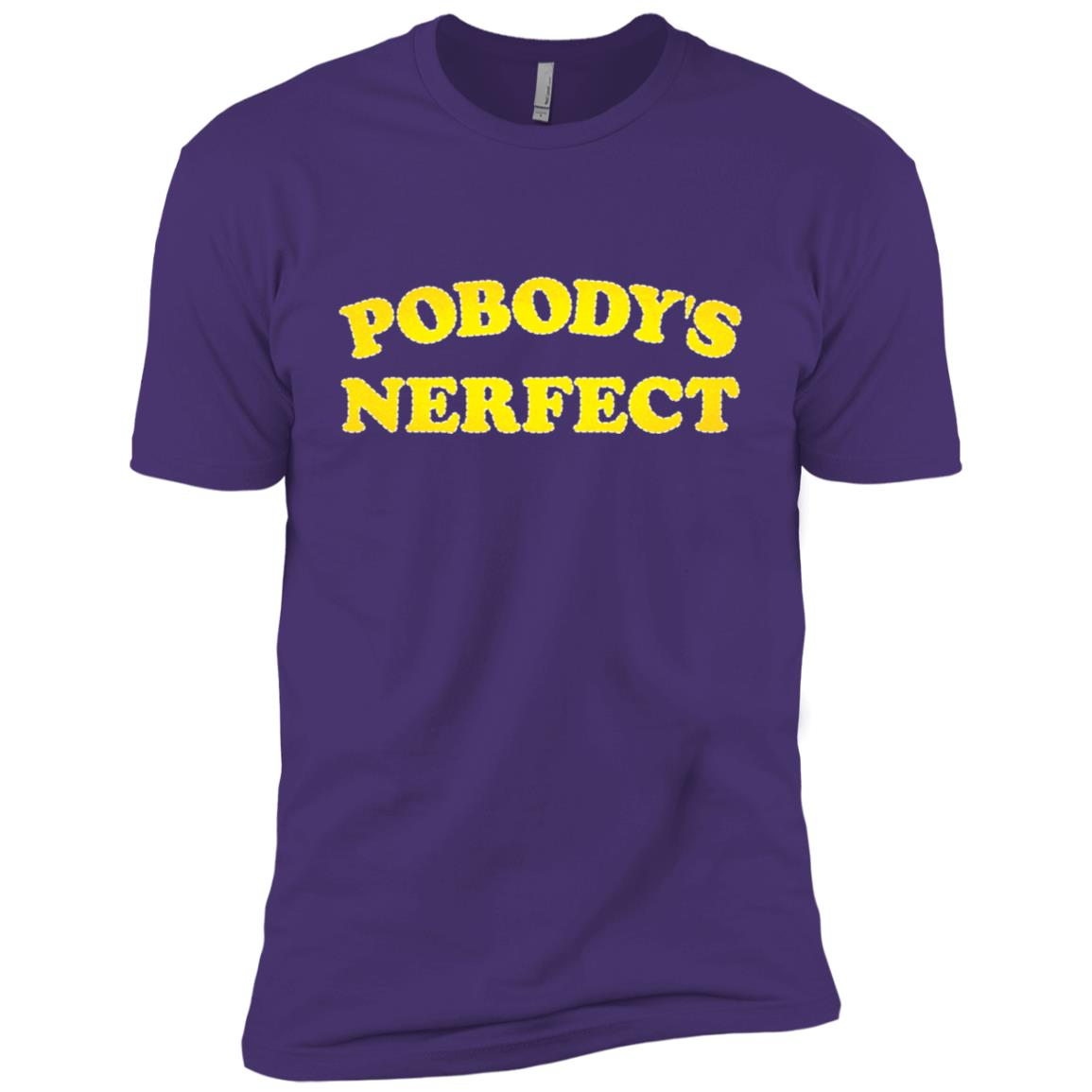 Pobody's Nerfect Retro Classic Funny Men Short Sleeve T-Shirt