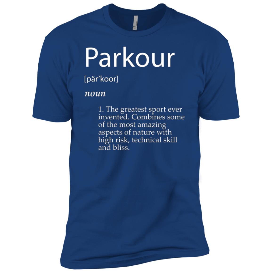 Parkour Definition – Urban Jumping Freerunning Men Short Sleeve T-Shirt