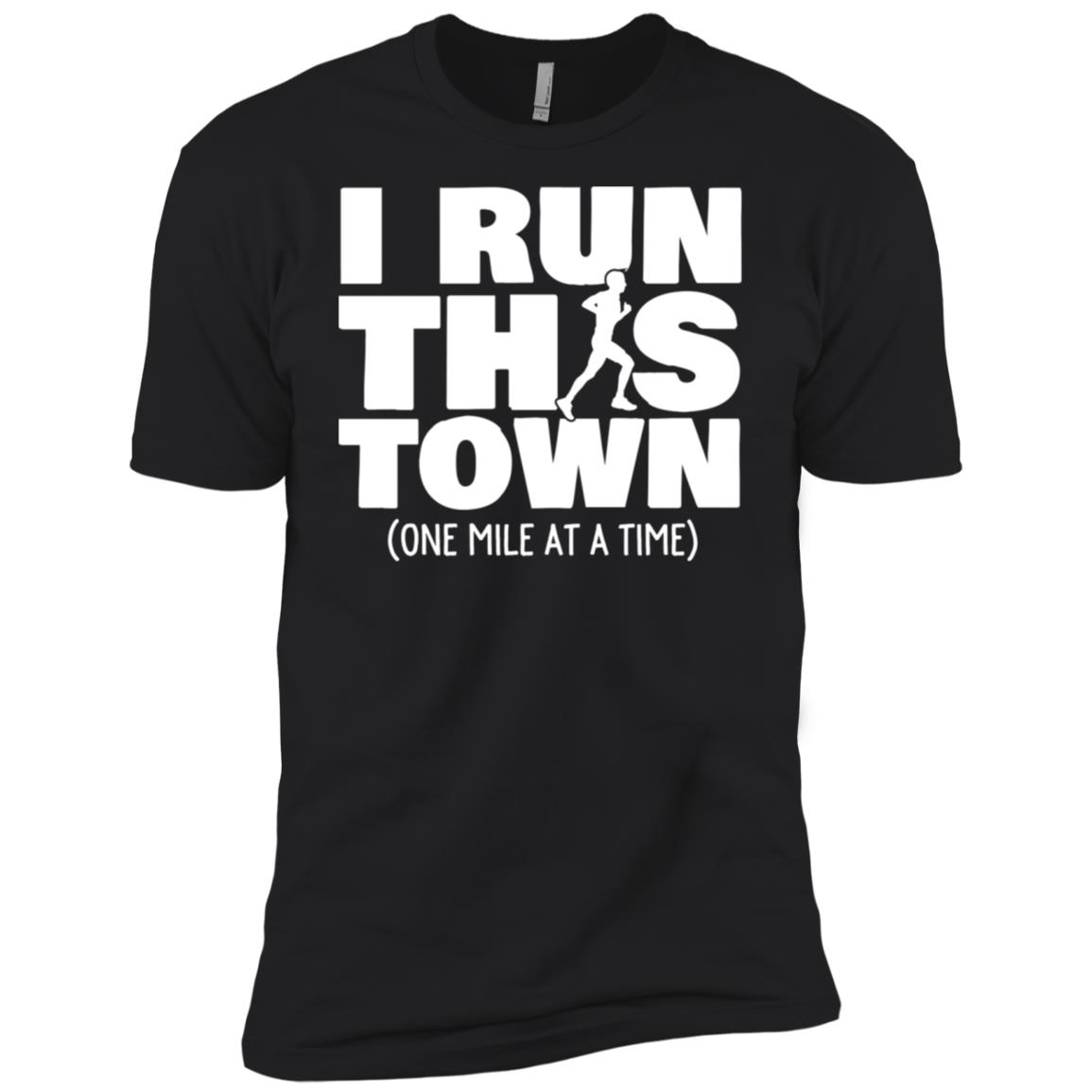 One Mile At A Time Male Runner Men Short Sleeve T-Shirt