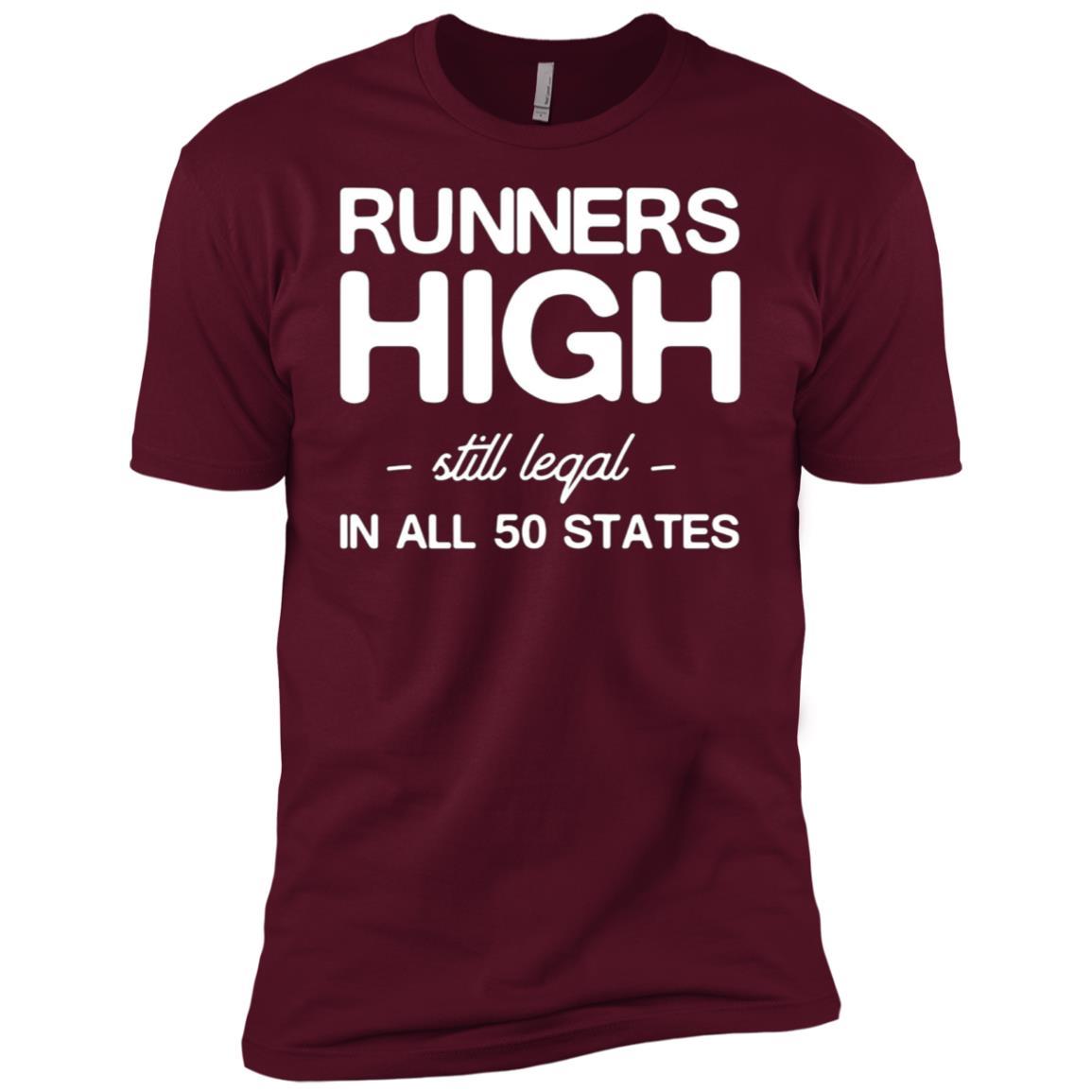 Runners high still legal in all 50 states Men Short Sleeve T-Shirt