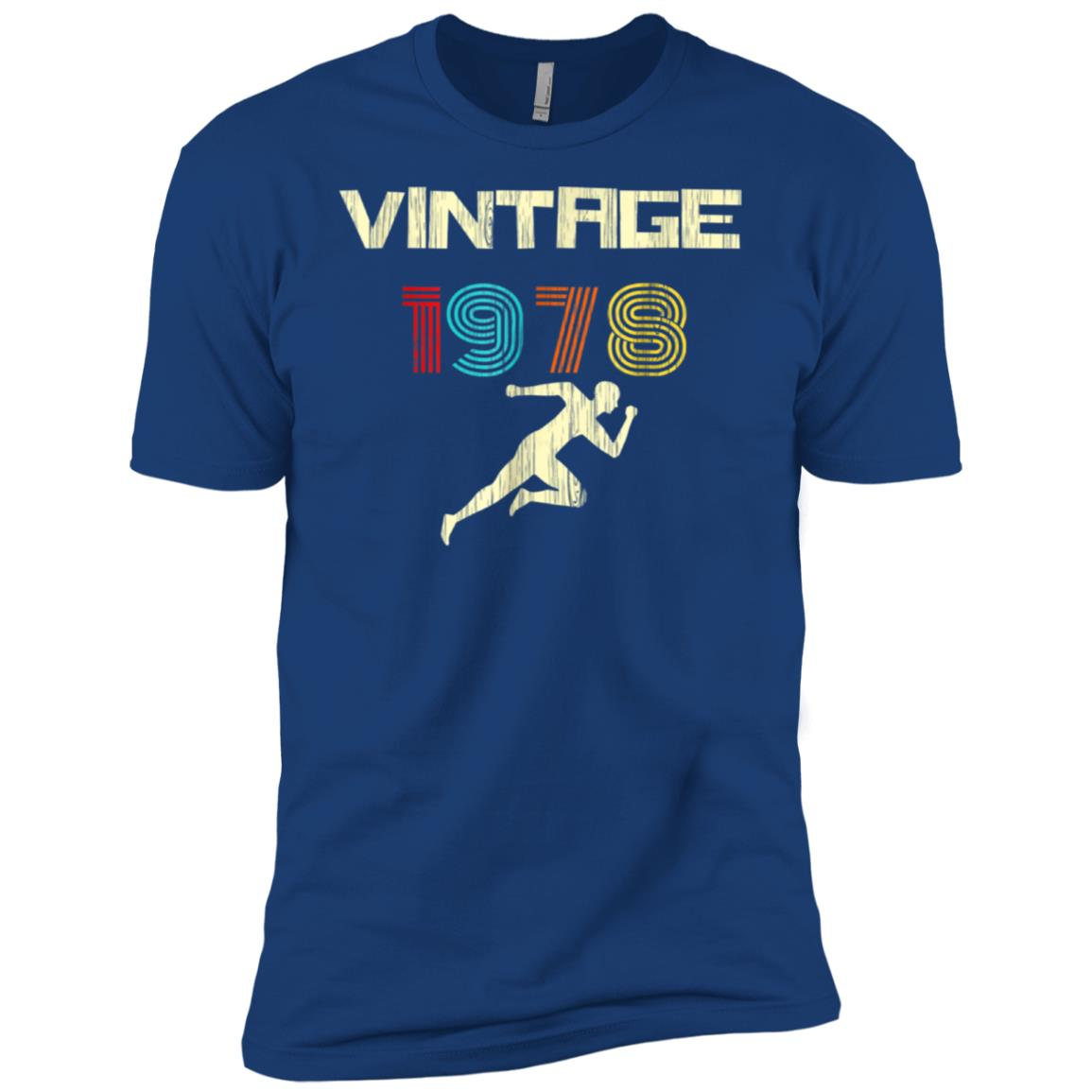 Runner's Vintage 1978 40th Birthday Men Short Sleeve T-Shirt