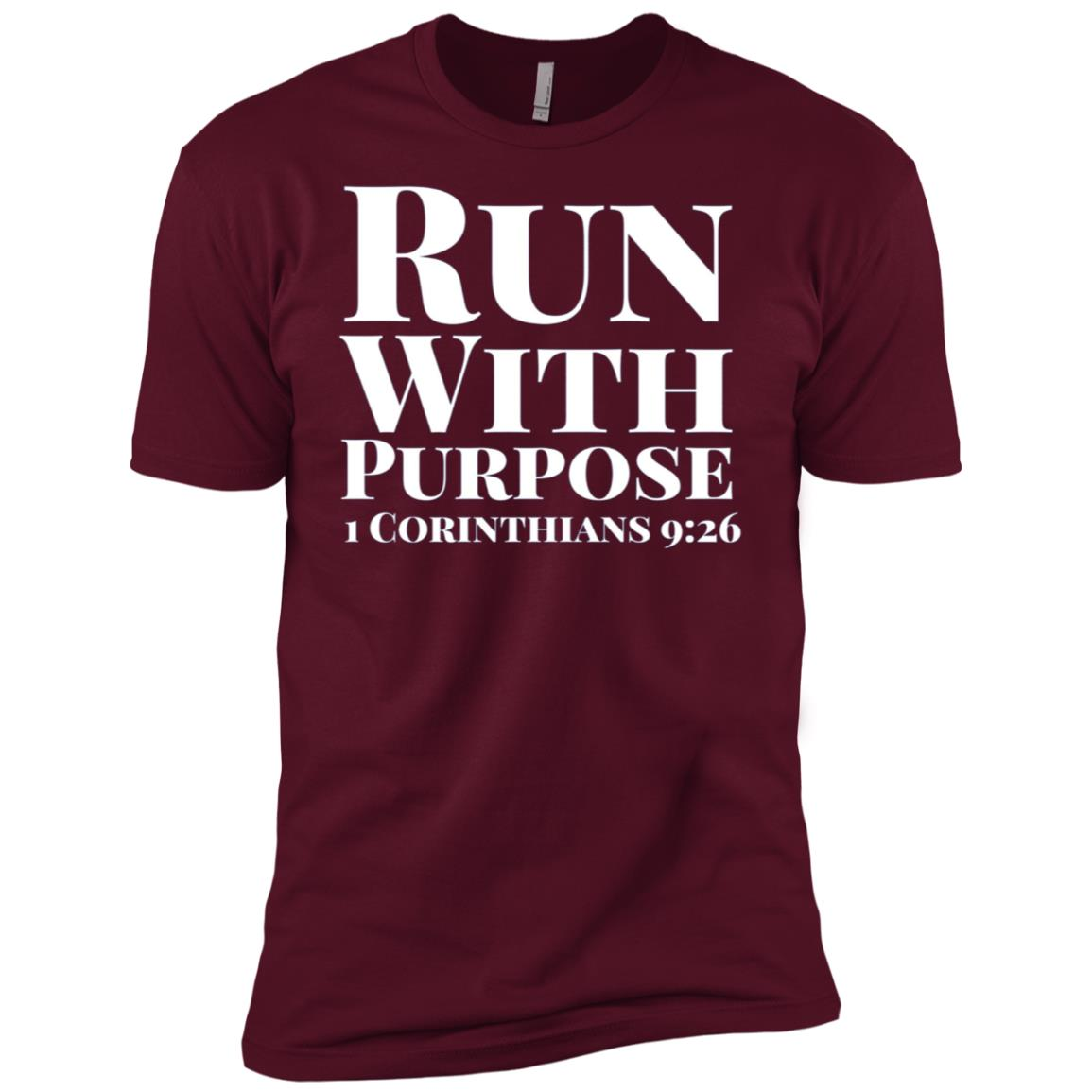 Run With Purpose 1 Corinthians 926 Men Short Sleeve T-Shirt