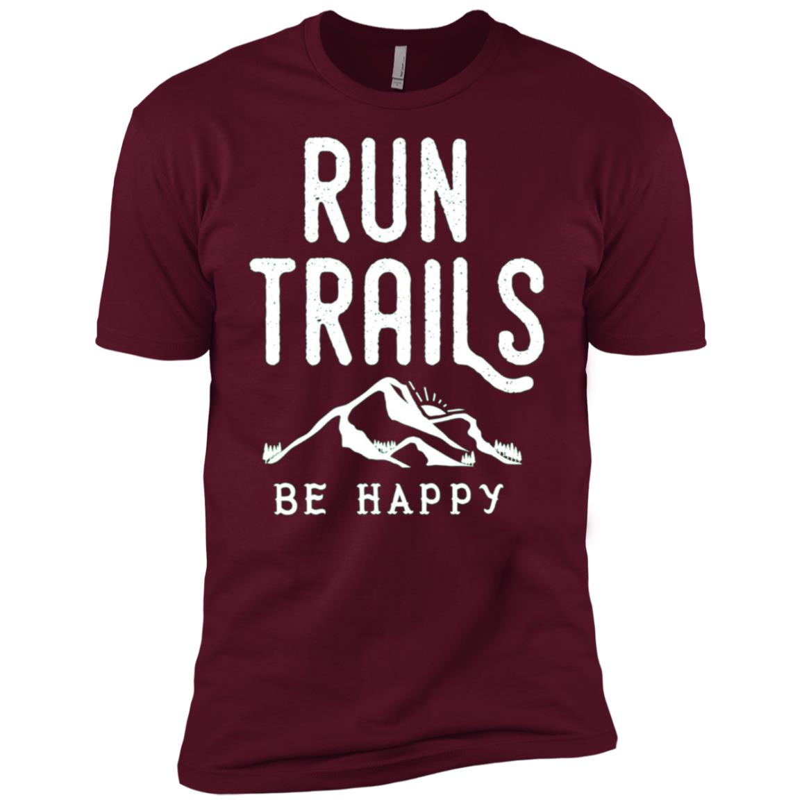 Run Trails Be Happy – Trail and Ultra Running Men Short Sleeve T-Shirt