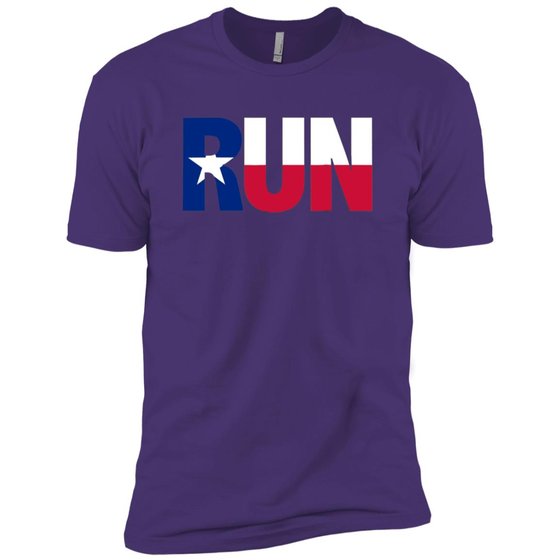 Run Texas Pride Running Motivation Graphic Men Short Sleeve T-Shirt
