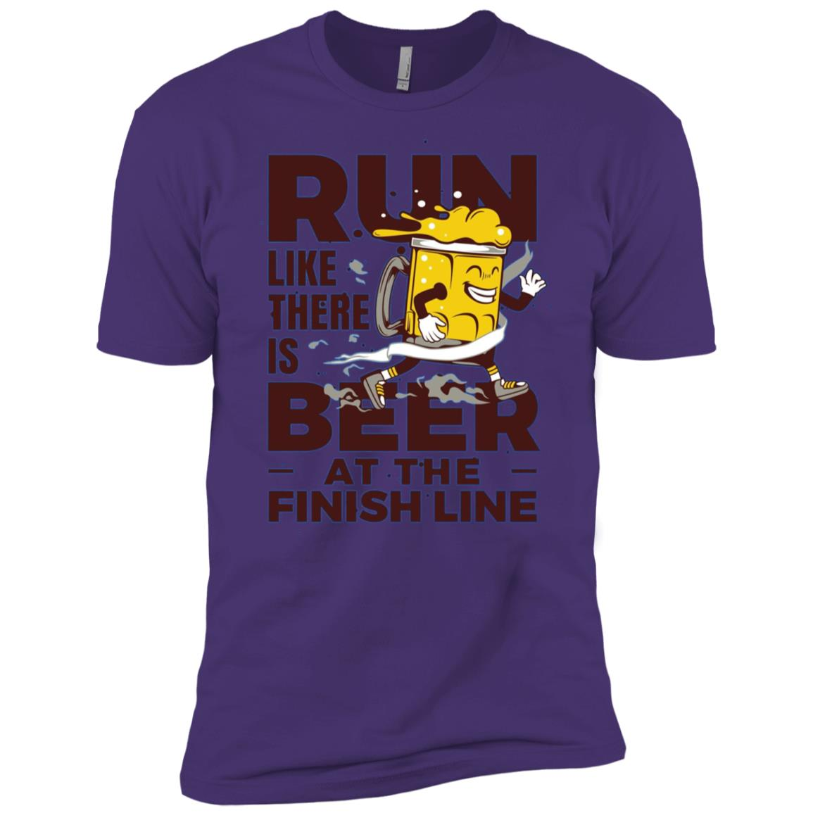 Run Like There is Beer at the Finish Line Men Short Sleeve T-Shirt