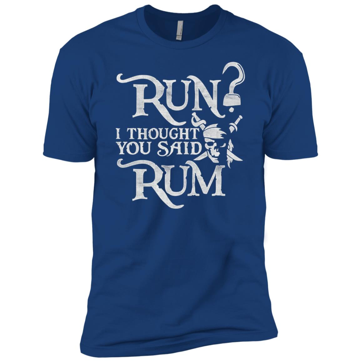 Run I Thought You Said Rum Funny Pirate Running Men Short Sleeve T-Shirt