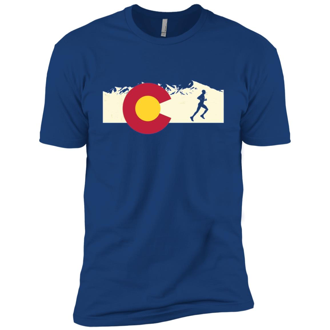 Run Colorado Pride Men Running Men Short Sleeve T-Shirt