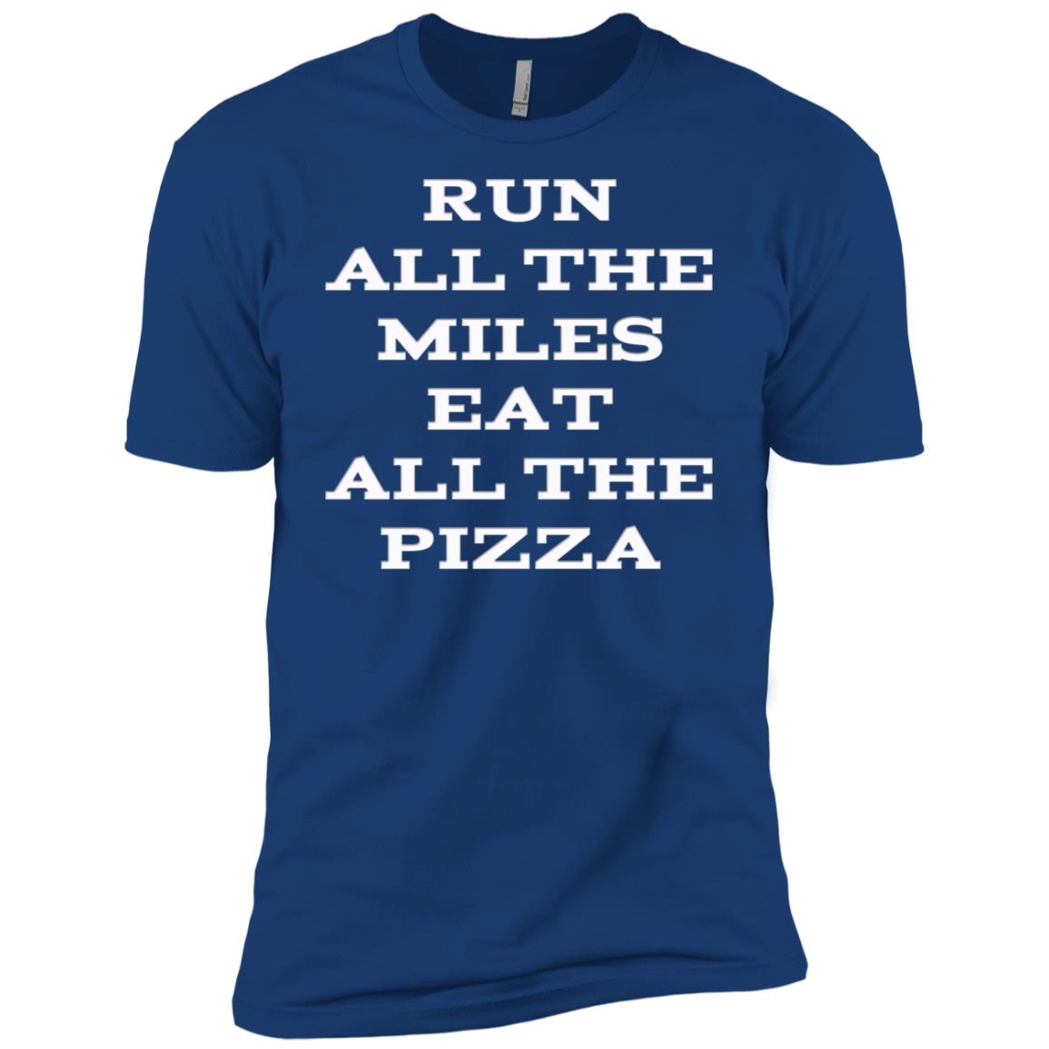 Run All The Miles Eat All The Pizza Men Short Sleeve T-Shirt