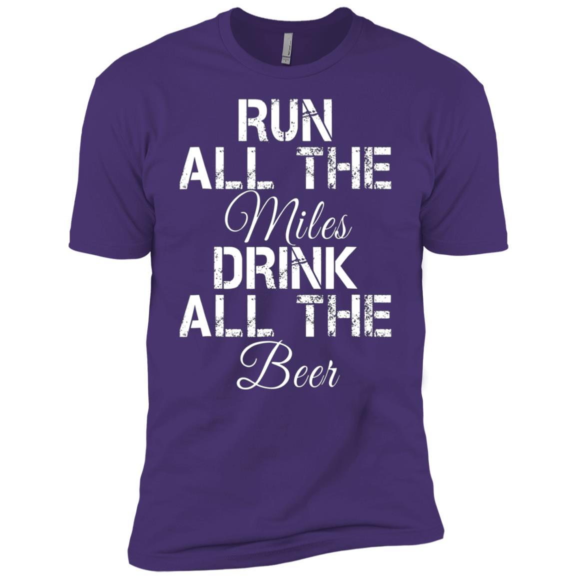 Run All The Miles Drink All The Beer Running Men Short Sleeve T-Shirt