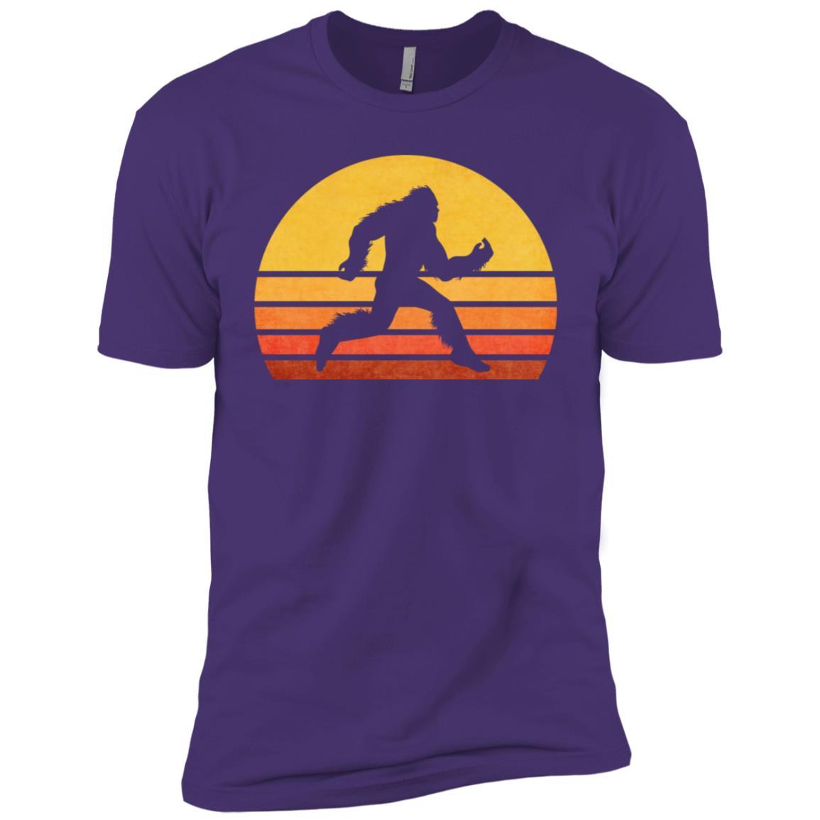 Retro Runner Bigfoot Running Men Short Sleeve T-Shirt