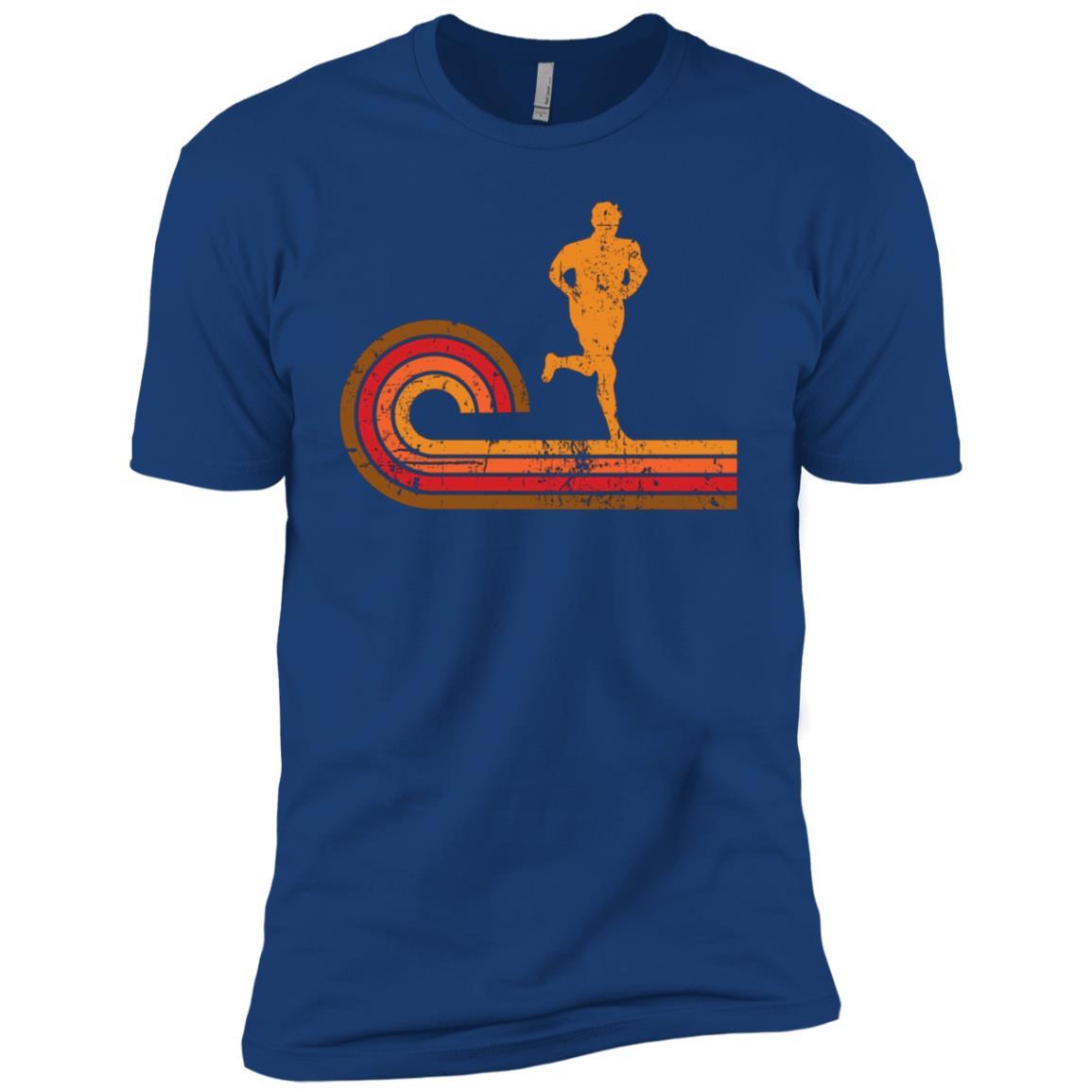 Retro Style Runner Silhouette Running Men Short Sleeve T-Shirt