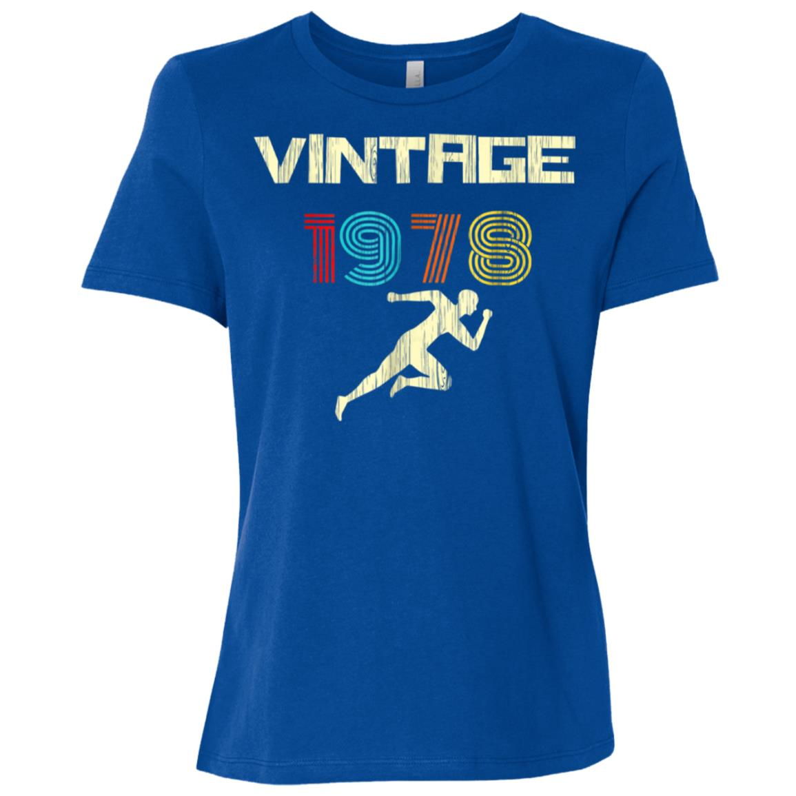 Runner's Vintage 1978 40th Birthday Women Short Sleeve T-Shirt