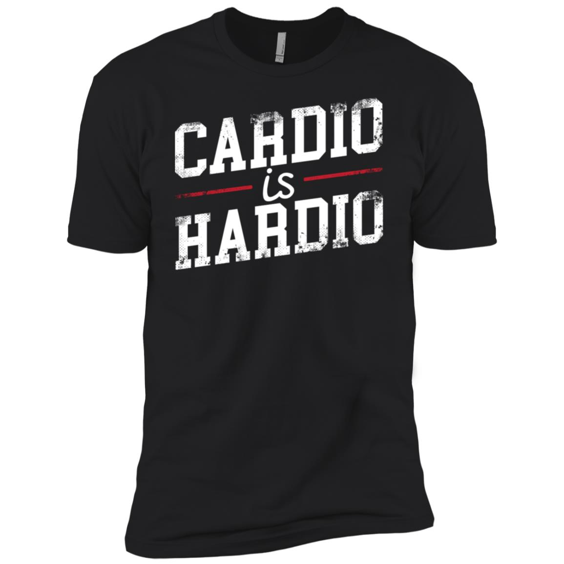 Cardio Is Hardio Fitness Workout Gift Men Short Sleeve T-Shirt