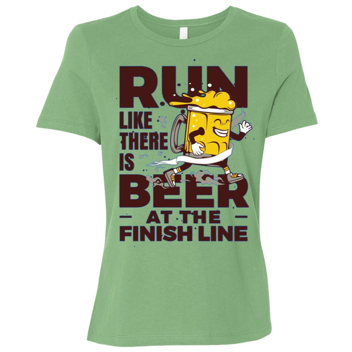 Run Like There is Beer at the Finish Line Women Short Sleeve T-Shirt