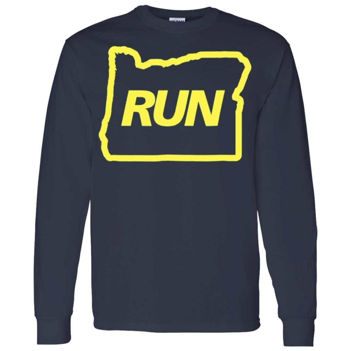Run Oregon Runner Men Long Sleeve T-Shirt