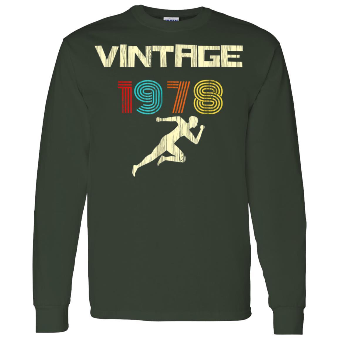 Runner's Vintage 1978 40th Birthday Men Long Sleeve T-Shirt