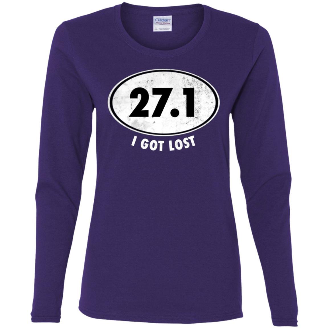 27.1 I Got Lost Funny Marathon Runner Tee Women Long Sleeve T-Shirt