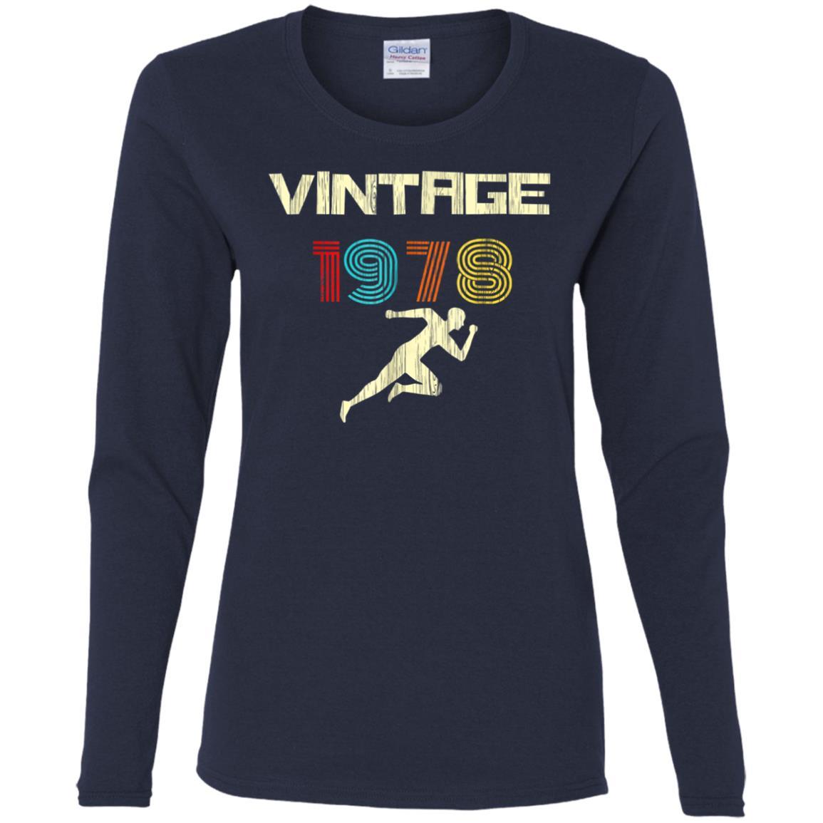 Runner's Vintage 1978 40th Birthday Women Long Sleeve T-Shirt