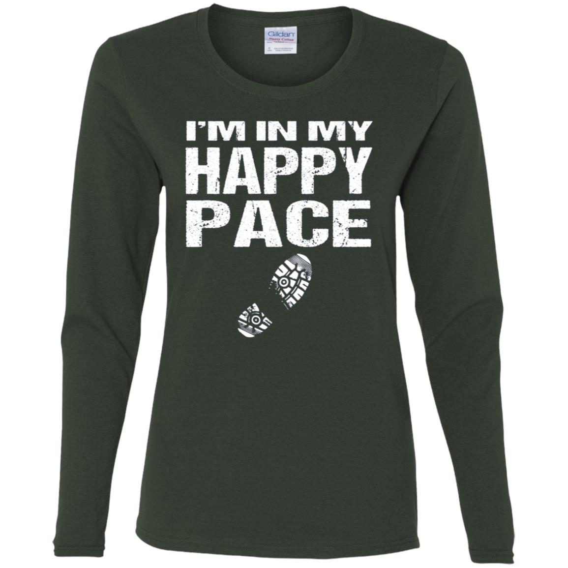 Runners Funny I'm In My Happy Pace Women Long Sleeve T-Shirt