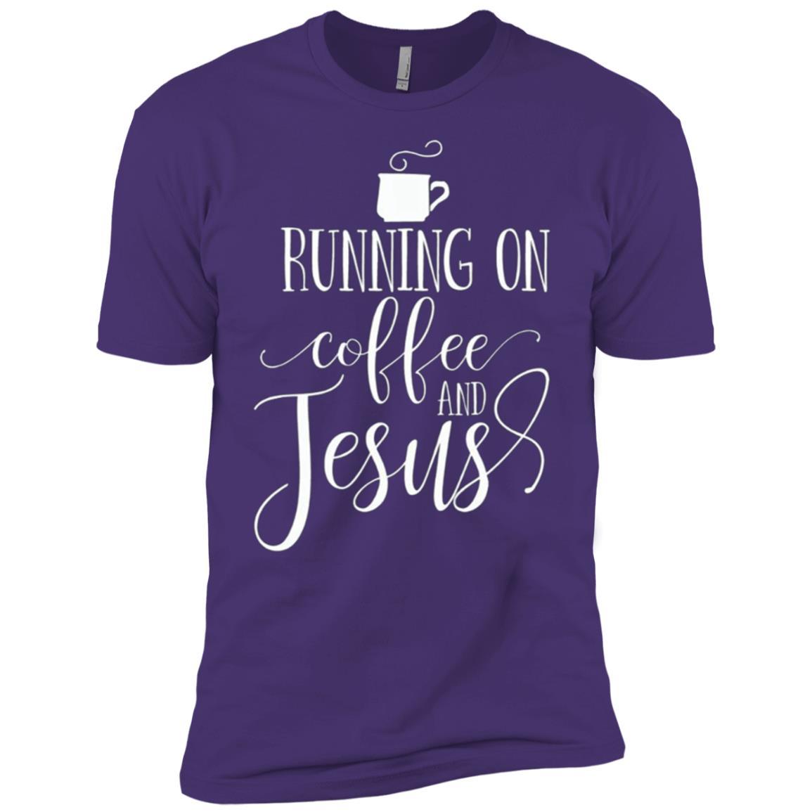 Running on Coffee and Jesus – Cool Jesus Tee Men Short Sleeve T-Shirt