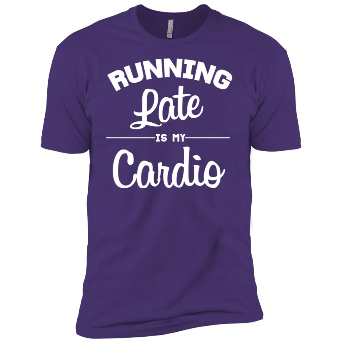 Running Late is my Cardio Graphic Sarcastic Workout Men Short Sleeve T-Shirt